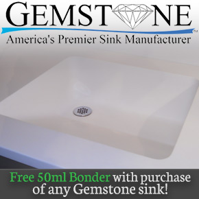 Free 50ml bonder with gemstone sink purchase