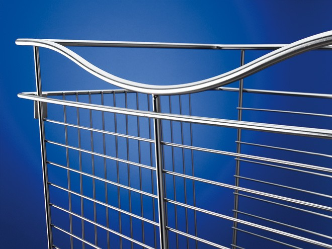 "Pull Out Wire Basket - (Satin Nickel) - 18""W x20""D x11""H"