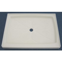"34"" x 48"" Shower Base (Center Drain) - Cameo"