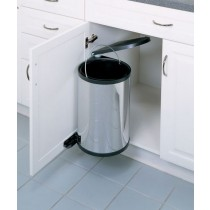 15 Liter Round Pivot-Out Waste Container (Stainless Steel)