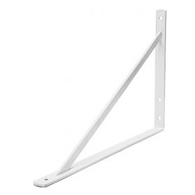 White Heavy Duty Shelf Bracket - (11.8 in. x 8.2 in.)