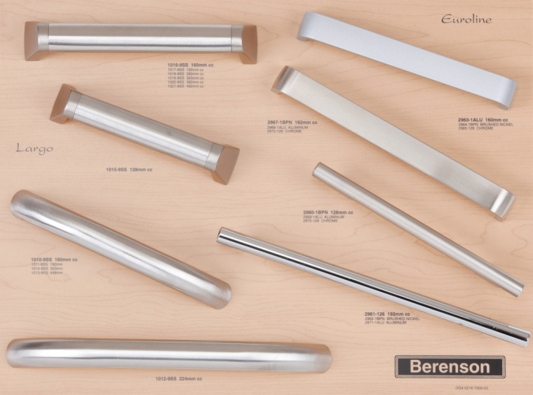 Euroline and Largo Decorative Hardware Board from Berenson