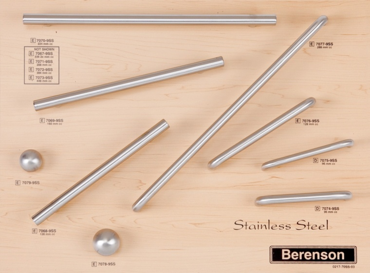 Sainless Steel Decorative Hardware by Berenson