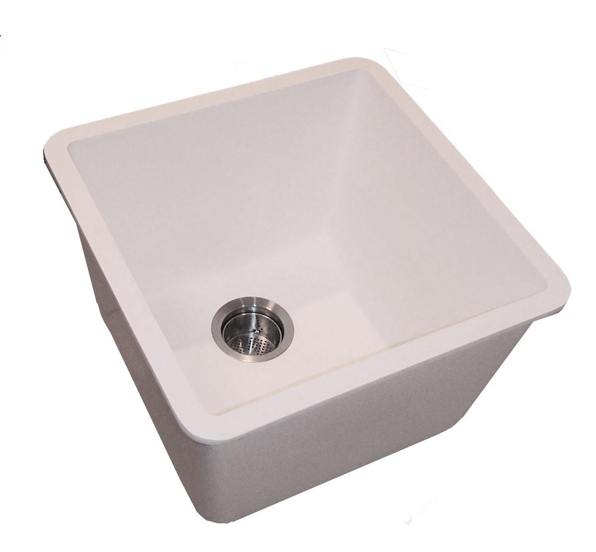 deep utility kitchen sink (winter white), gemstone part
