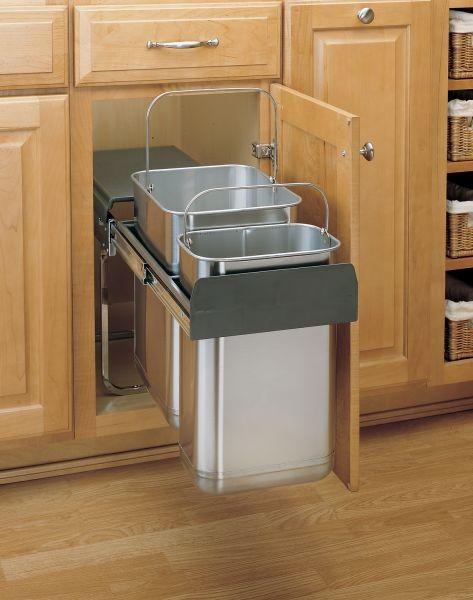 Under Sink Mount Waste Container, 8-785-30-2SS (Rev A Shelf